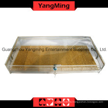 High-Grade Acrylic Handle Chip Tray with Lock-1 (YM-CT10)